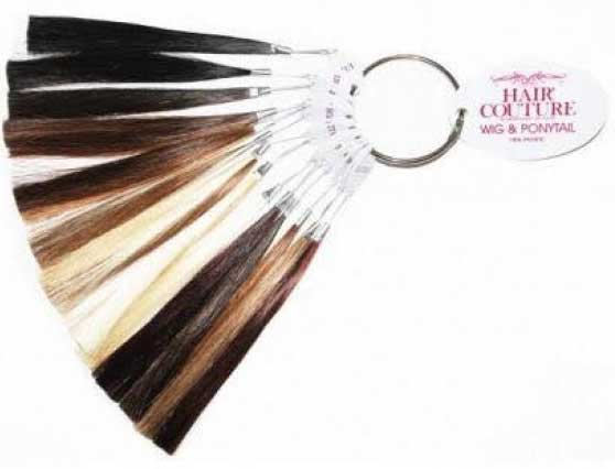 Hair ring for colour matching